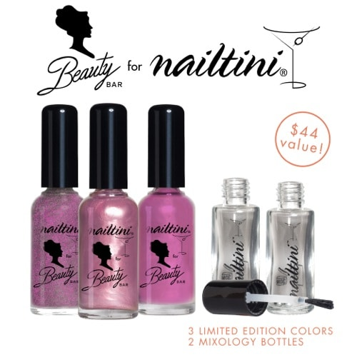 Nailtini for Beauty Bar Lacquer Cabinet Collection