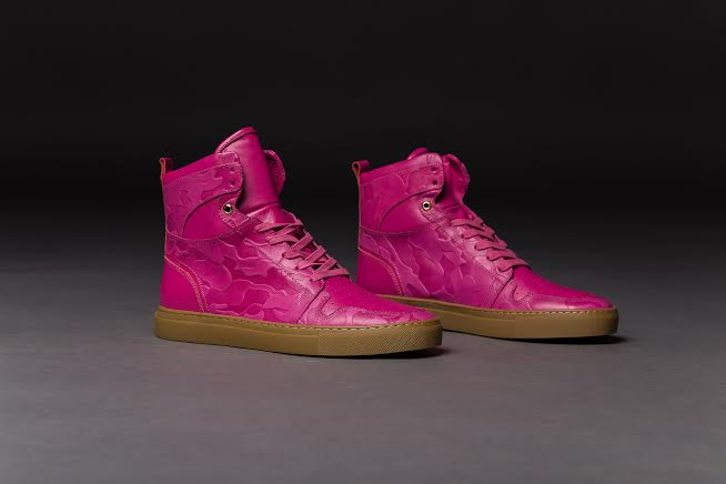 Camouflaged Flamingo Pink Work Boot
