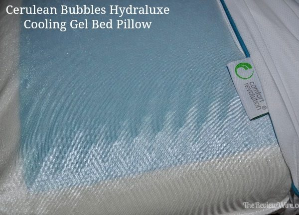 Cerulean Bubbles Hydraluxe Cooling Gel Bed Pillow