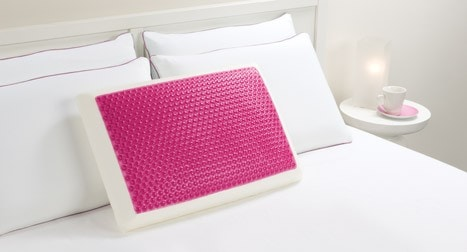 Frosted Pink Bubbles Hydraluxe Cooling Gel Bed Pillow
