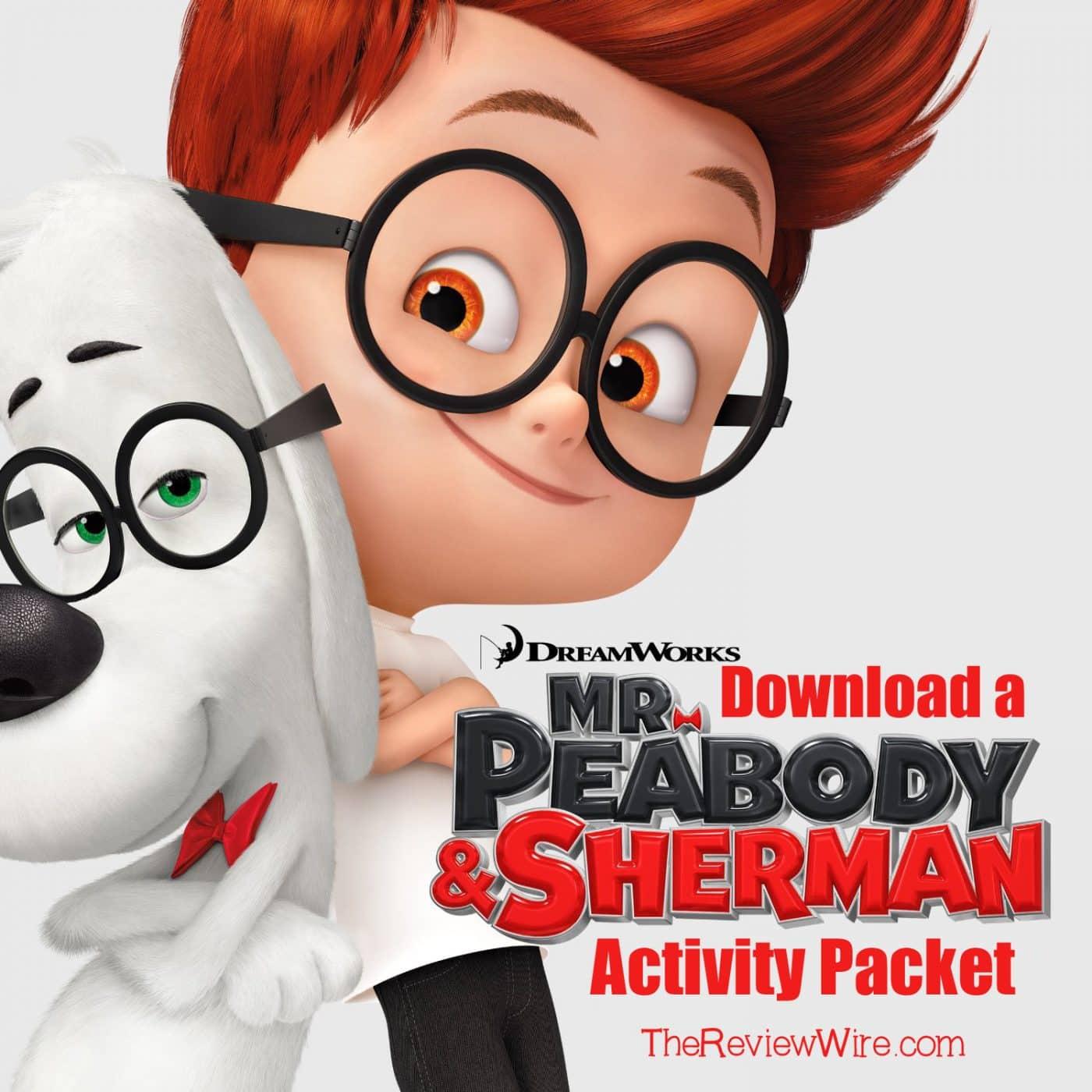 MR. PEABODY & SHERMAN Activity Packet