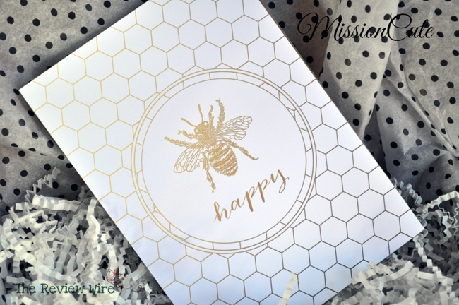 Bee Happy Print MissionCute Accessories Subscription Box