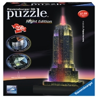 Empire State Building at Night 3D Puzzle