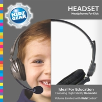 Kidz Gear's Deluxe Stereo Headset Headphones with Boom Microphone