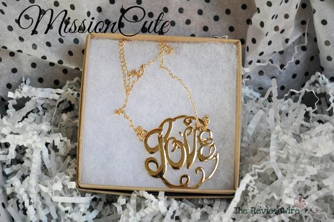 Love Necklace MissionCute Accessories Subscription Box