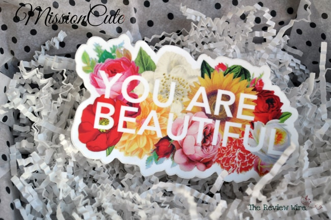 You Are Beautiful Sticker MissionCute Accessories Subscription Box