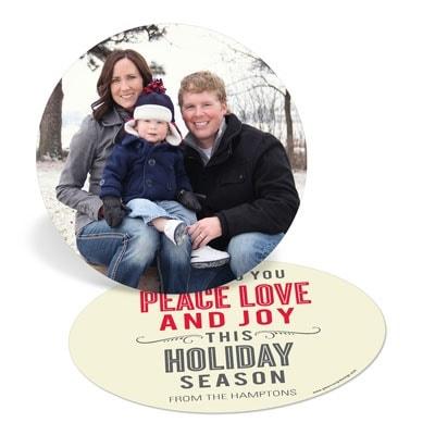 Holiday Greeting Cards: Circle of Peace Love Joy