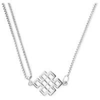 Endless Knot Pull Chain Necklace
