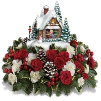Thomas Kinkade's a Kiss for Santa