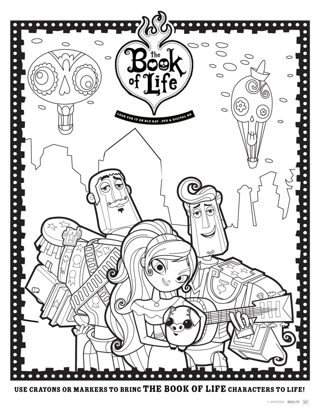 Book of Life Coloring Sheet