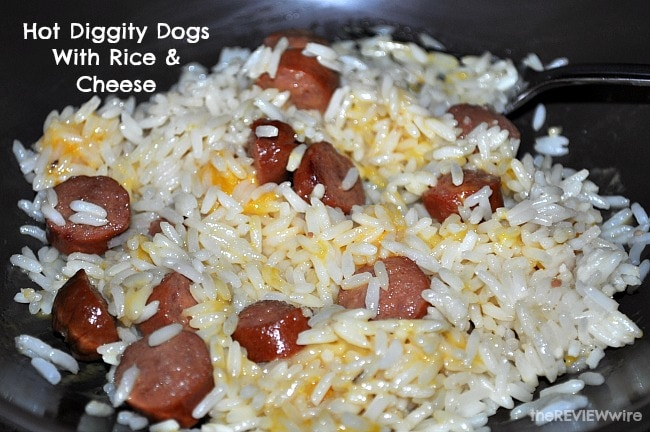 Hot Diggity Dogs With Rice & Cheese
