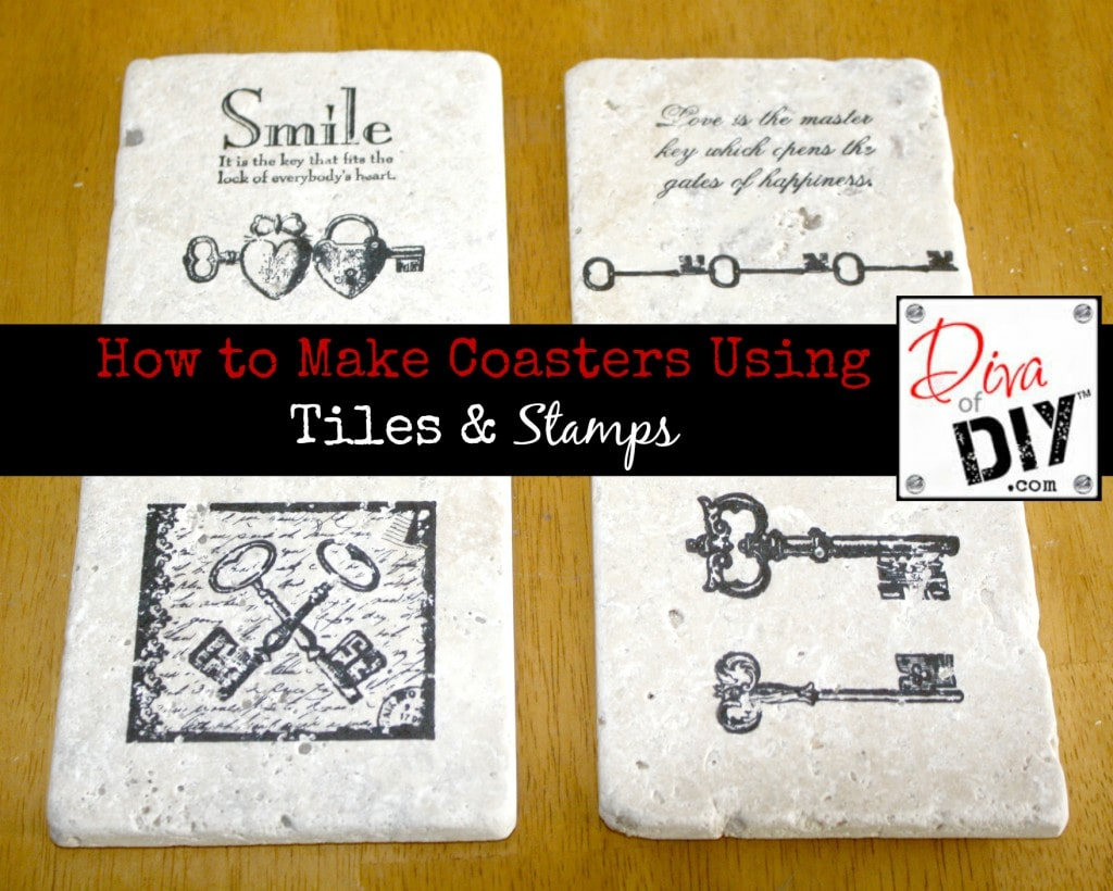 DIY Coasters With Tiles & Stamps