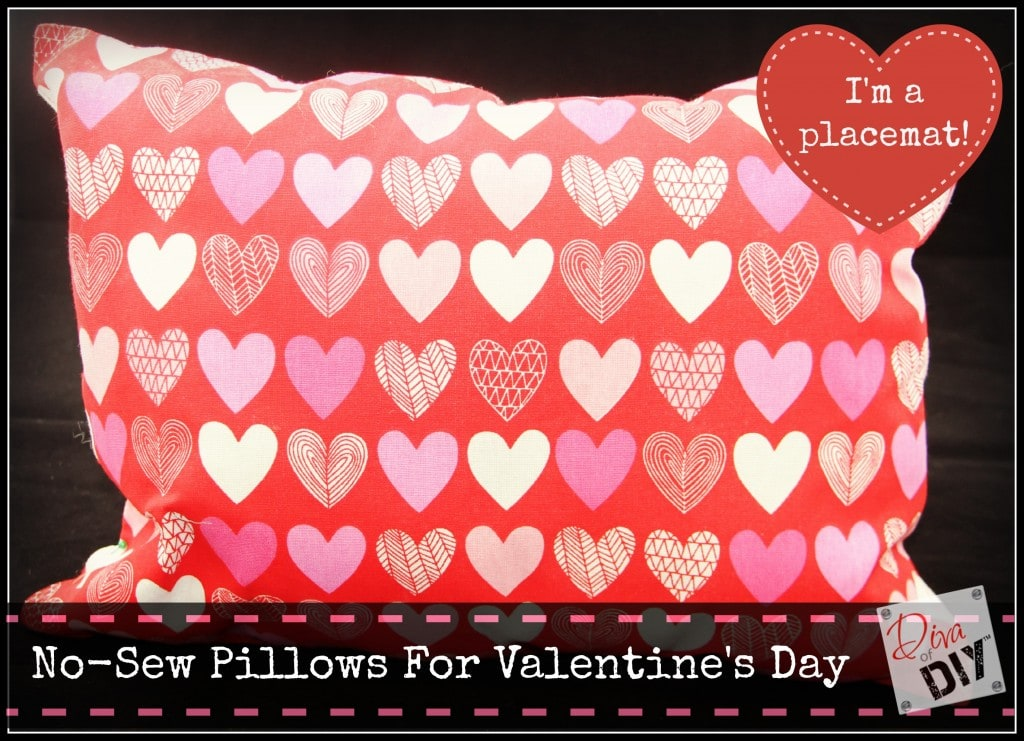 Valentines Day No Sew Pillow