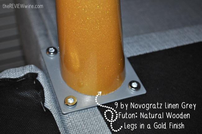 9 by Novogratz Linen Futon Leg