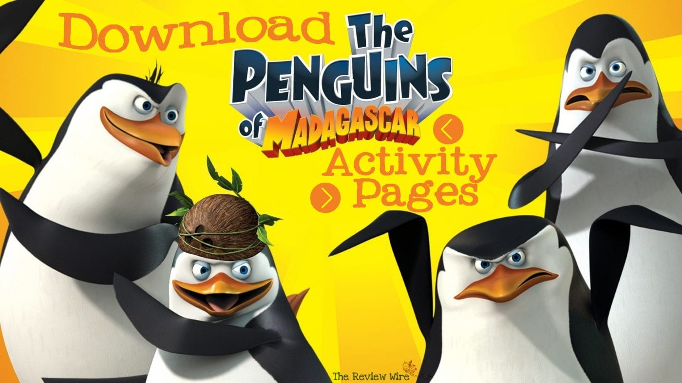 Penguins of Madagascar Printable Activity Pages