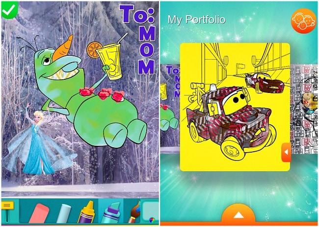 Disney Creativity Studio 2 Coloring Pages