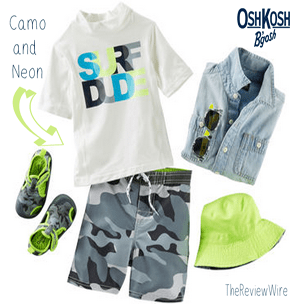 OshKosh camo and neon