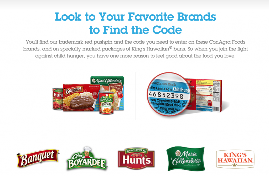 ConAgra Foods brands_Child Hunger