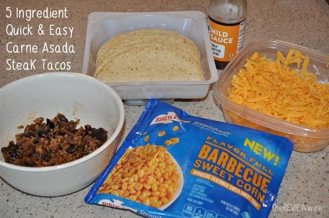 5 Ingredient Quick & Easy Carne Asada SteaK Tacos