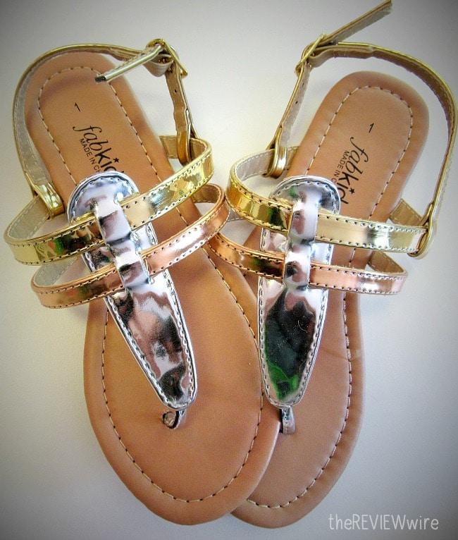 Metallic TStrap Sandal