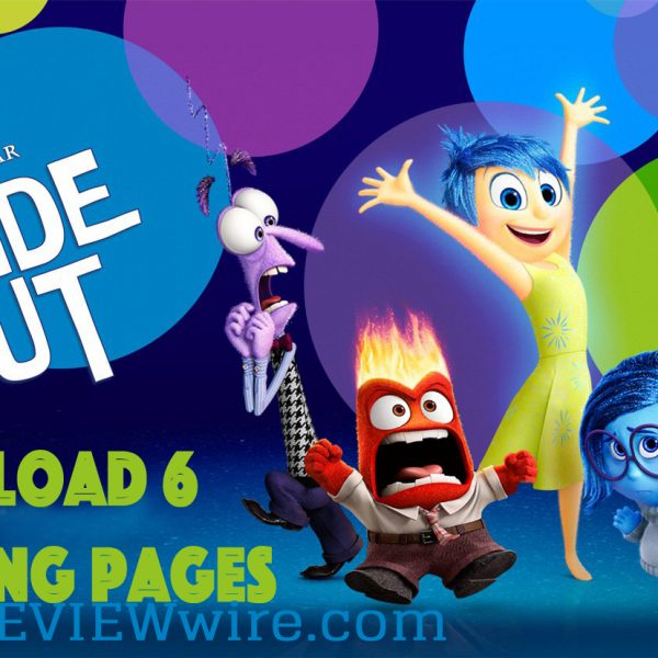 6 INSIDE OUT Coloring Pages