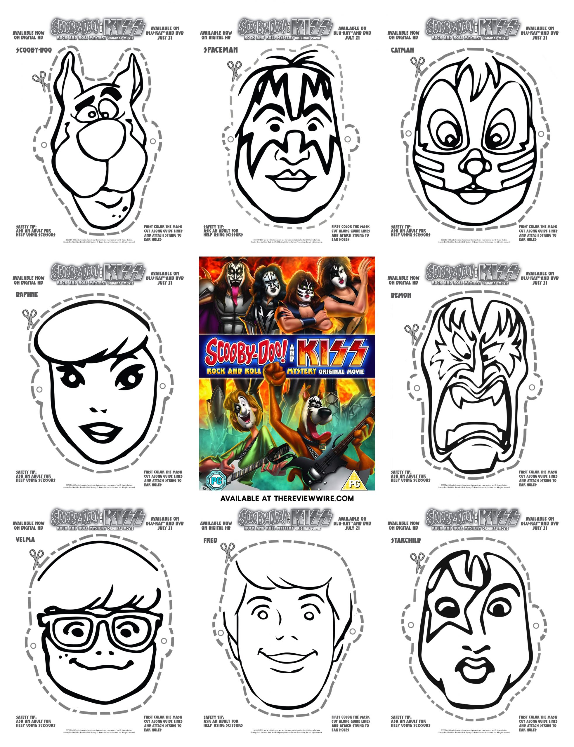 Scooby-Doo! And KISS Printables