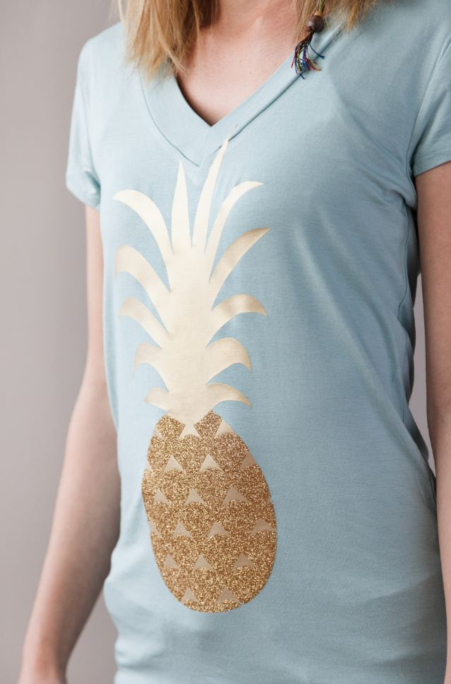 sparkly pineapple t-shirt