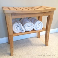 Bamboo Shower Seat with Shelf
