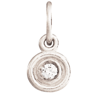 Double Ring Diamond Disk Charm from Helen Ficalora