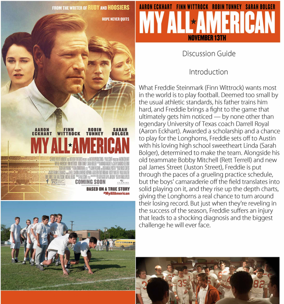 My All American Discussion Guide