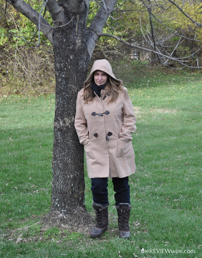 Hooded Wool Toggle Coat
