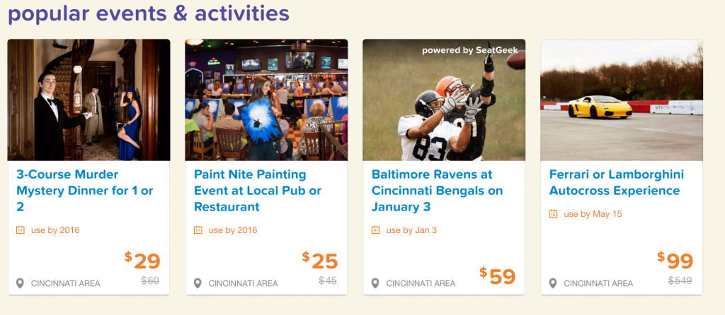 LivingSocial Popular Events and Activities