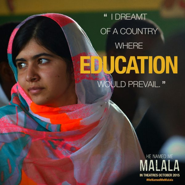 He Named Me Malala - education