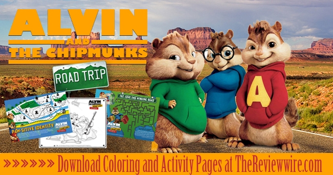 Alvin and The Chipmunks Printable Activities