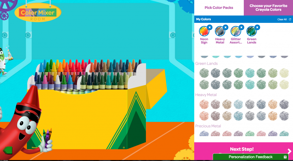 Crayola My Way Personalized Crayon Box - crayon color picker