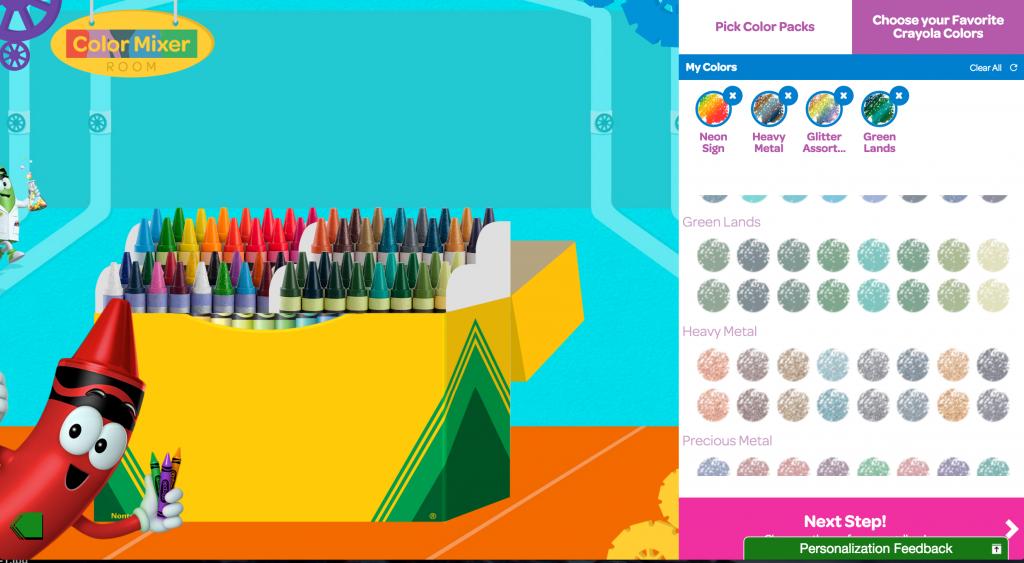 Crayola My Way Personalized Crayon Box - crayon color picker