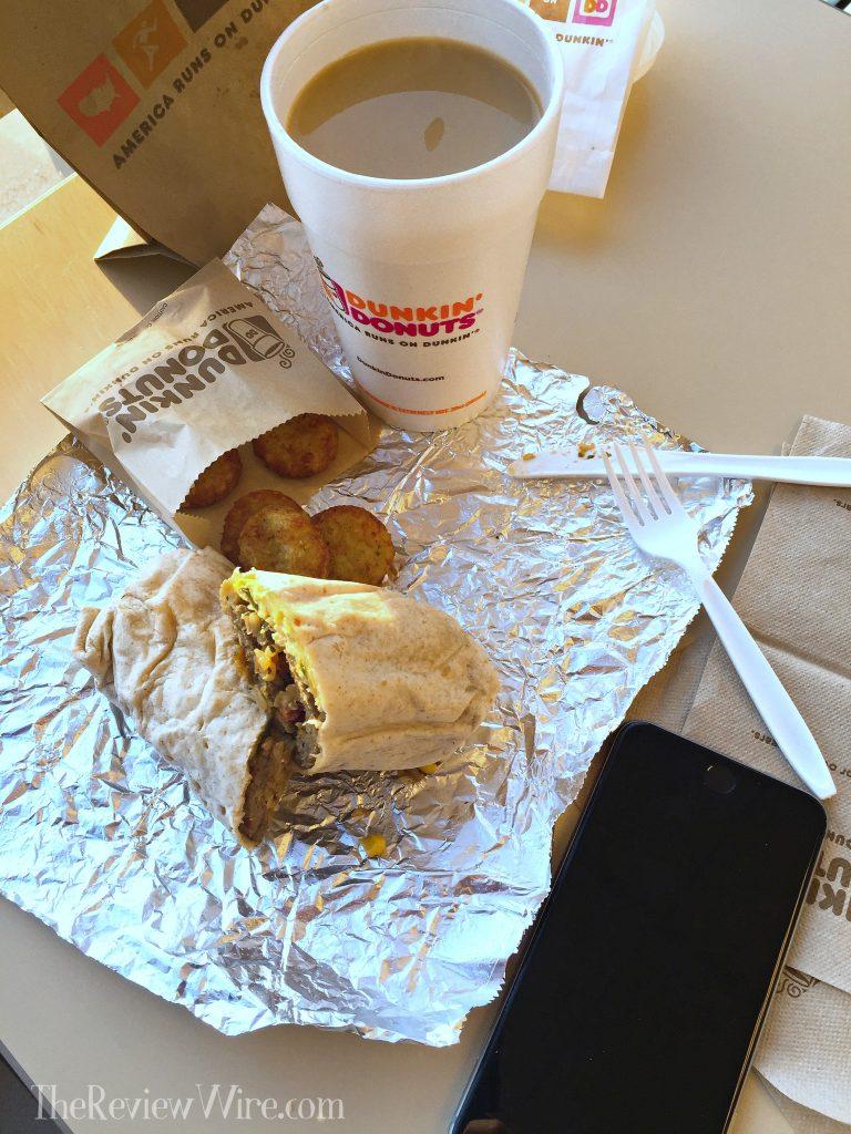 Dunkin' Donuts GranDDe Burrito Meal