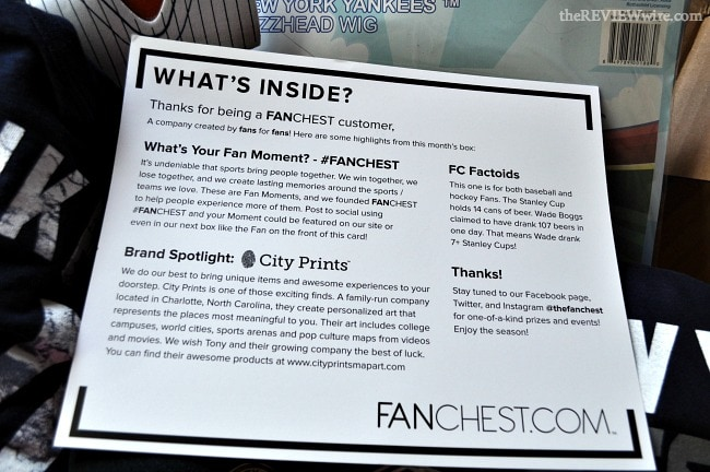 FANCHEST What's Inside