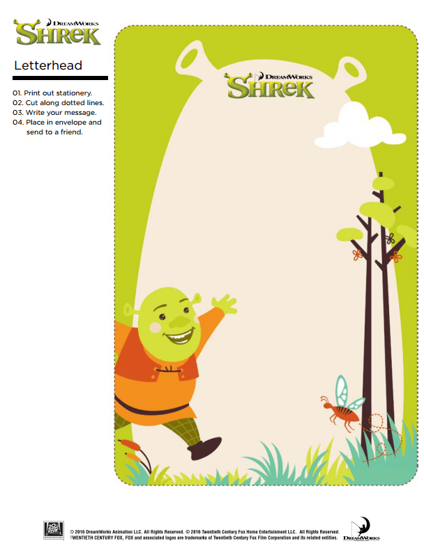 Shrek Stationary