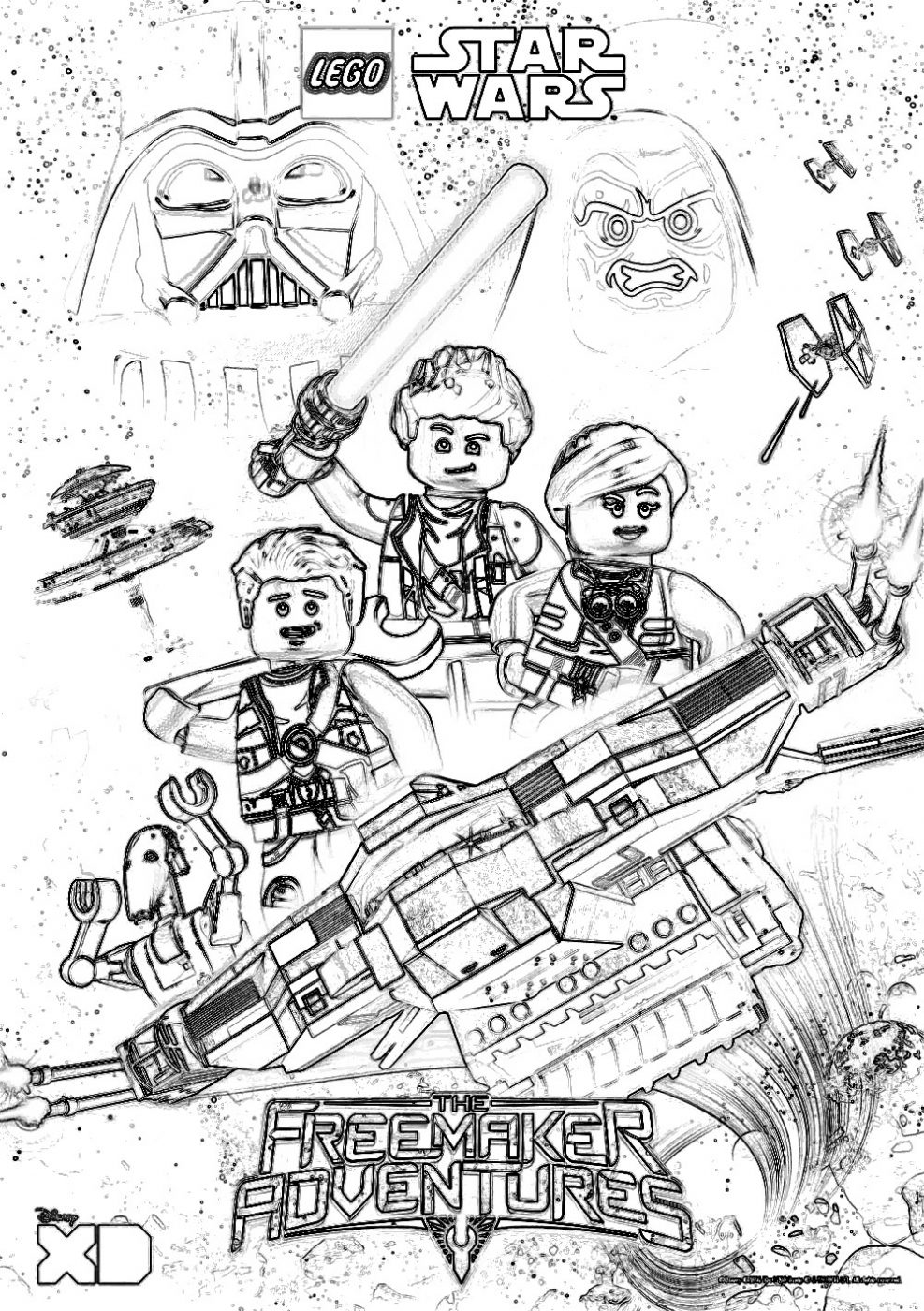 lego_sw freemakeradventures coloring page - Star Wars Coloring Pages