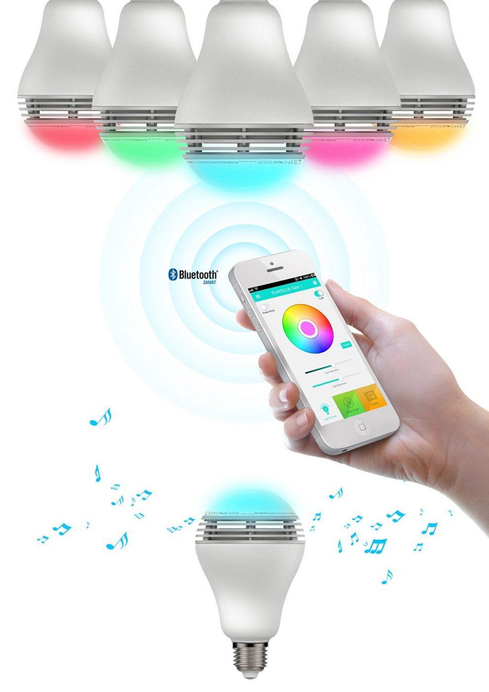 MiPow Playbulb Color Bluetooth Speaker Smart Bulb