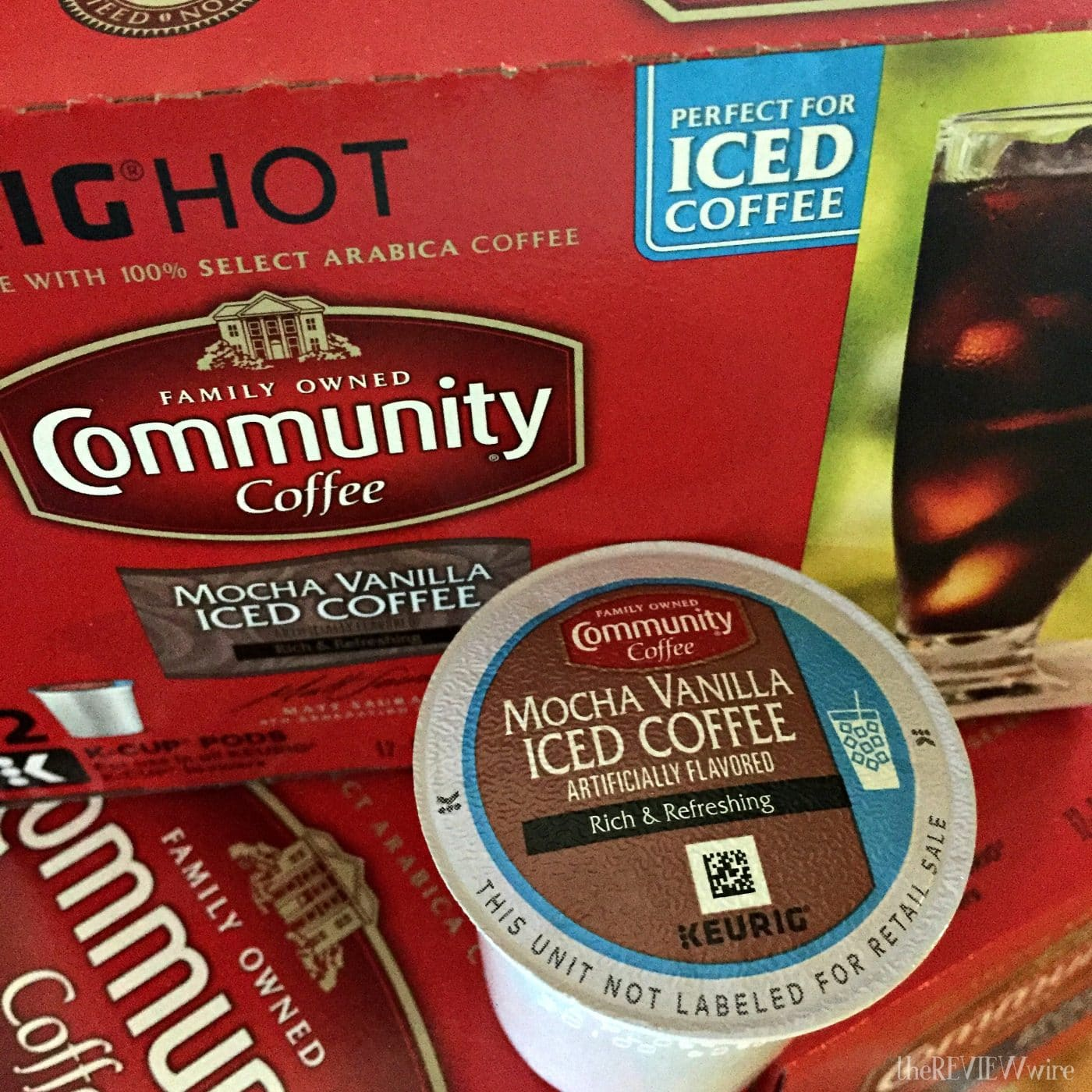 Mocha Vanilla Iced Coffee K-Cups from Community Coffee Co.