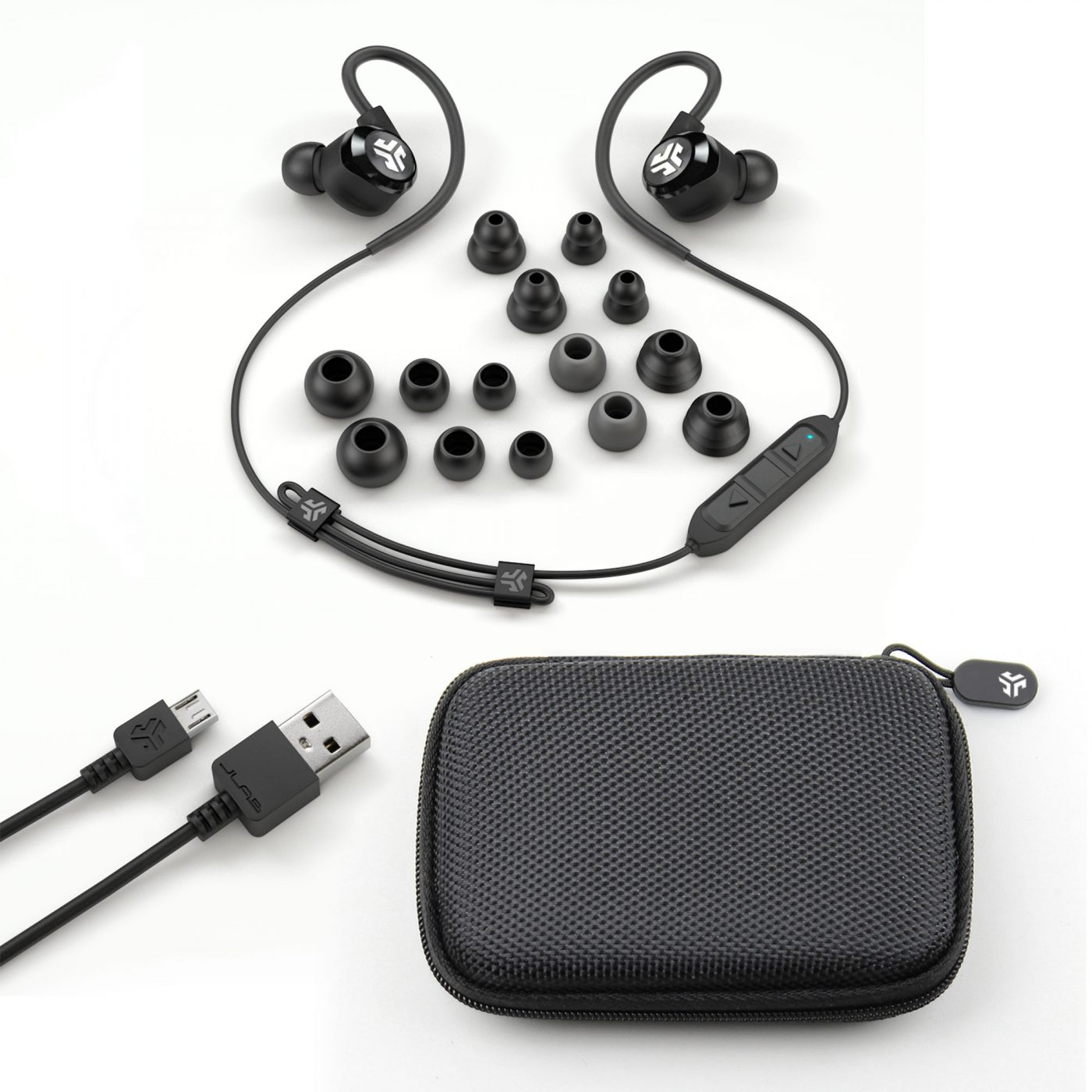 JLab Audio Epic2 Bluetooth Earbuds