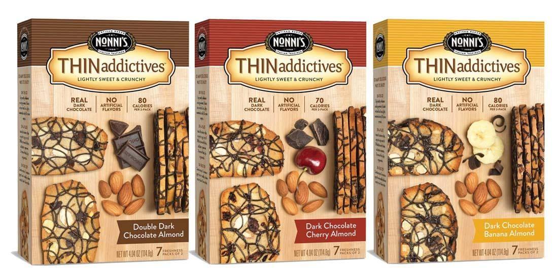 Nonni's THINaddictives Dark Chocolate Almond