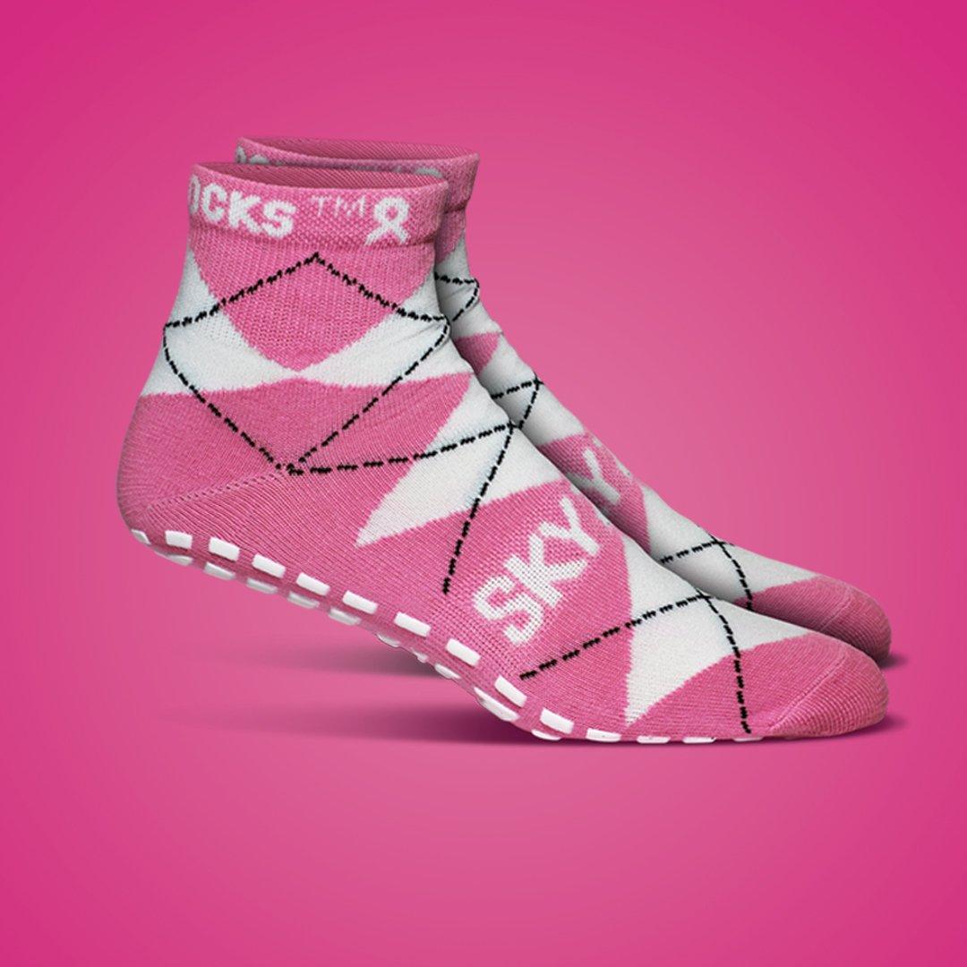 Sky Zone Pink Socks