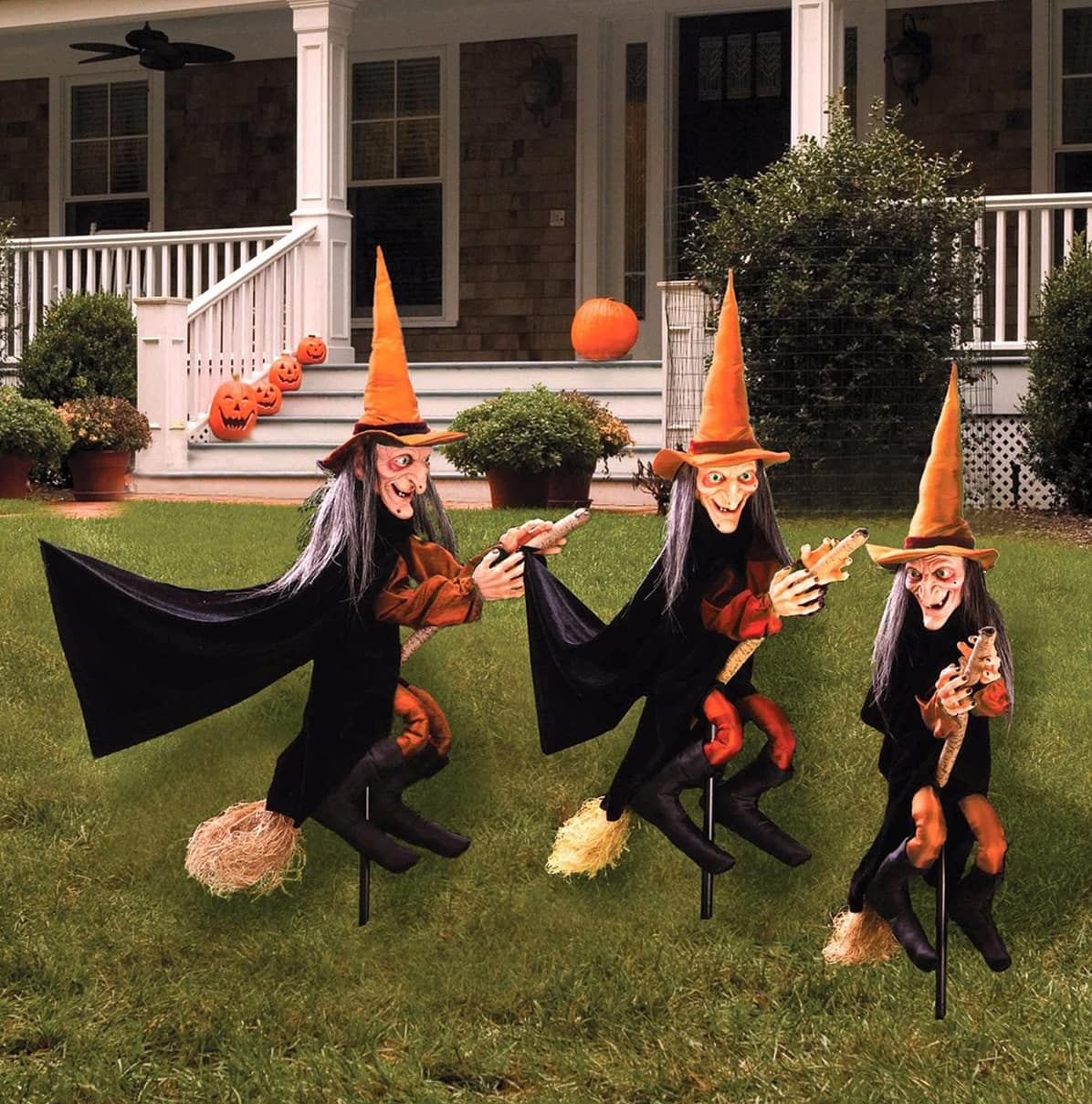 Witchy Group Lawn Ornament