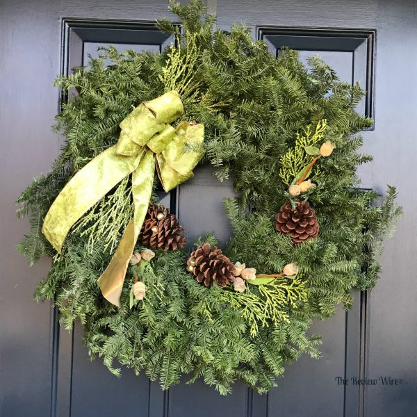 Balsam Fir Wintergreen Wreath