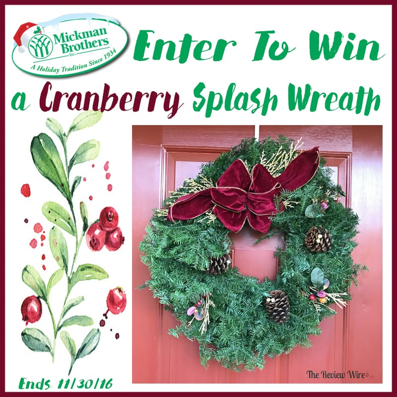 Cranberry Wreath Giveaway