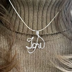 Fabled Treasures Sterling Wire Writing Name Necklace