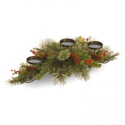 National Tree Company Wintry Pine Collection Centerpiece